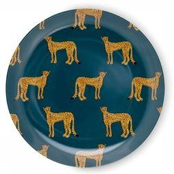 Fabienne Chapot Home Servies Breakfast Plate Cheetah Petrol