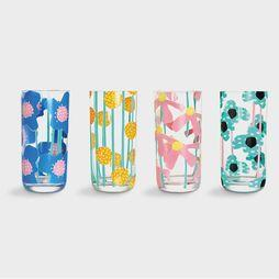 Service De Vaisselle Glas Flower Set Of 4