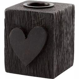 VT Wonen Bougeoir Block Heart Noir