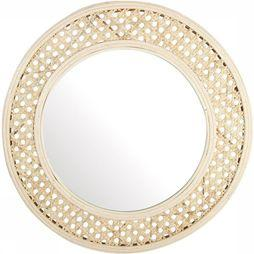 &K Miroir Cannage Brun Sable