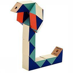 ARE Jeu Snake Blocks Small Bleu Moyen/Rouge Moyen