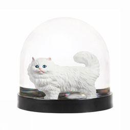 &KLEVERING Decoratie Wonderball Cat Goud/Wit
