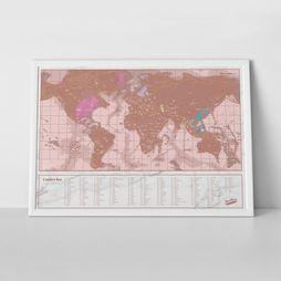 Luckies Decoratie Scratchmap Lichtroze/Goud