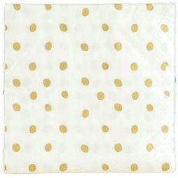 &KLEVERING Woonaccessoire Napkin Golden Dots Wit/Goud
