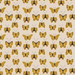 House of Products Papier d'Emballage Butterfly Yellow Jaune Clair/Jaune Moyen
