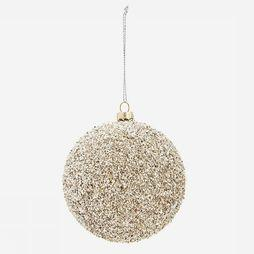 Madam Stoltz Collection De Noel Hanging Glitter Ball Gris Foncé