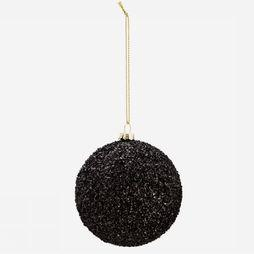 Madam Stoltz Collection De Noel Hanging Glitter Noir
