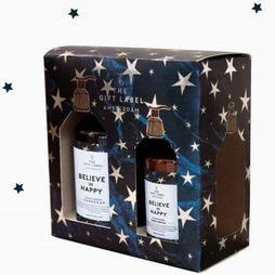 The Gift Label Kerstcollectie Gift Box X-Mas Belive In Happy Donkerblauw/Goud