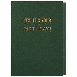 Papette Carte De Voeux Yes It'S Your F*Cking Birth Pas de couleur