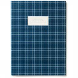 Kartotek Papeterie Large Notebook Check marine