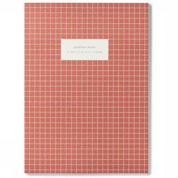 Kartotek Papeterie Large Notebook Check Rouge Foncé