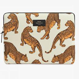 "Wouf Laptop Sleeve 13"" Wit/Donkergeel"