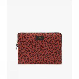Wouf Bureau Accessoire Laptop Sleeve 13 Inch Savannah Middenrood/Zwart