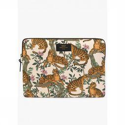 Wouf Bureau Accessoire Laptop Sleeve 13 Inch Lazy Jungle Wit/Oranje