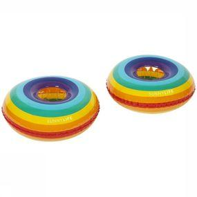 Jouets Inflatable Drink Holders Rainbow S2