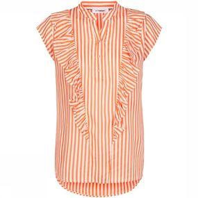 Blouse Doobie Frill Sunset Stripe