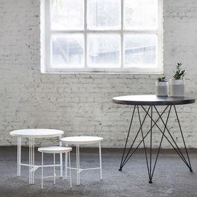 Table White/Terrazzo White D30 H35