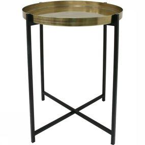 Table Brass Black Side M