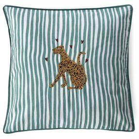 Coussin Leopard Cushion Striped Gevuld