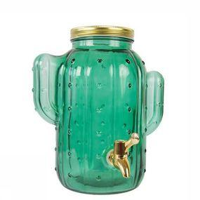 Cactus Green Glass Dispenser