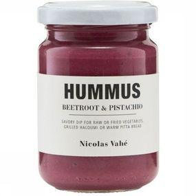 Nourriture Hummus Beetroot & Pischatchio nuts