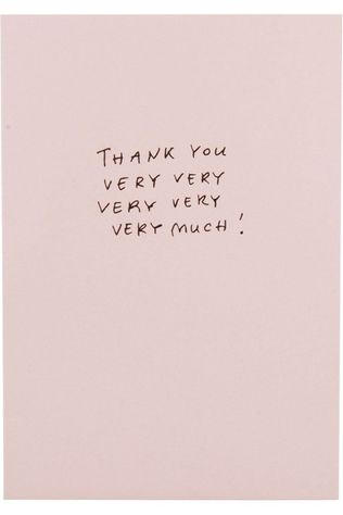 Papette Carte de Voeux Hot Copper Thank You Very Pas de couleur