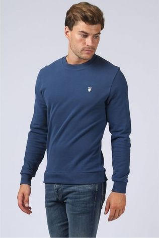 Knowledge Cotton Apparel Pull 30163 Bleu Moyen