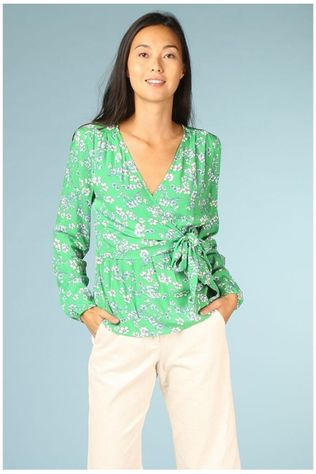 Designers Society Blouse 34295 Middengroen/Assortiment Bloem