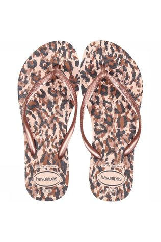 Havaianas Tongs Slim Animals Rose Clair/Or