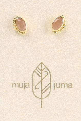Muja Juma Boucle D'Oreille 5X3Mm Oval Crown Or/Rose Clair