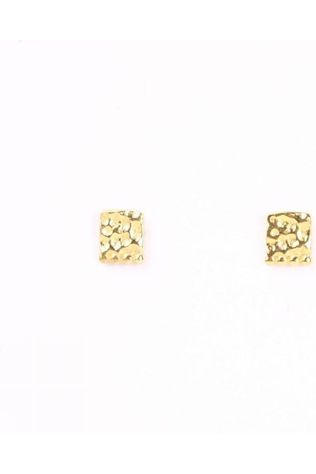 Muja Juma Boucle D'Oreille Stud Etnic Square Small Or