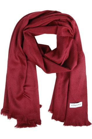 Alpaca Loca Echarpe Single Bordeaux Red Bordeaux / Marron