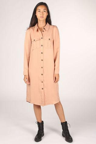 Co'Couture Robe Uni Shirt Rose Clair