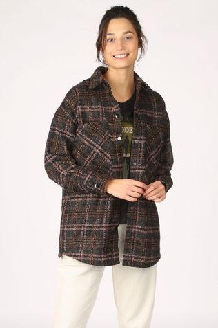 Co'Couture Blazer Kendall Wool Check Noir/Rose Moyen