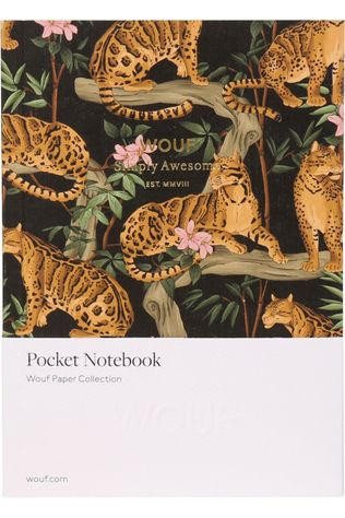 Wouf Papeterie Notebook A6 Black Lazy Jungle Collection Orange/Noir