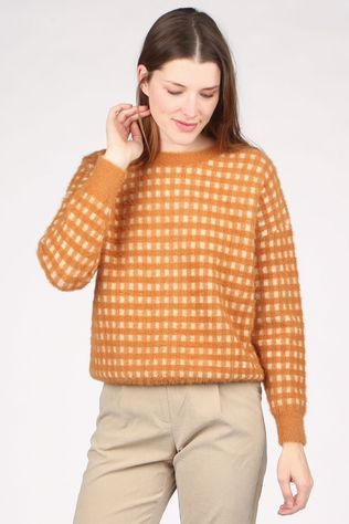 FRNCH Pull Marron Chameau