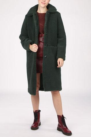 Another-Label Manteau Moussy Vert Foncé