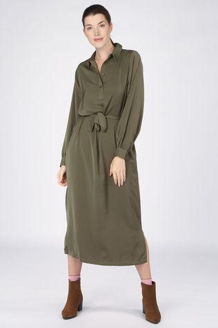 Another-Label Robe Douce Kaki Moyen