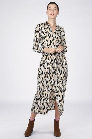 Another-Label Robe Adeleide Brun Sable/Noir