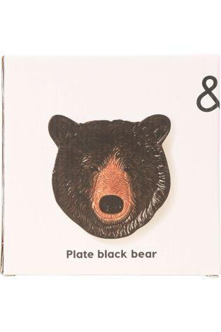 &KLEVERING Servies Plate Black Bear Middenbruin