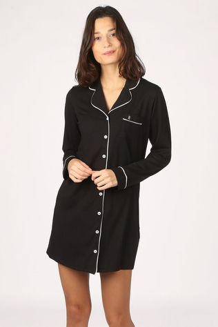 Lords & Lilies Pyjama Button Down Noir