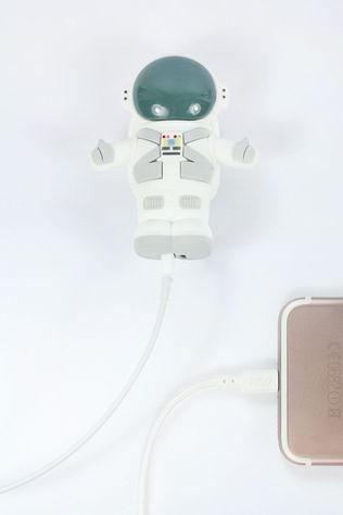 EMOJI Chargeur Space Boy External Battery 2600 Nh Blanc/Gris Moyen