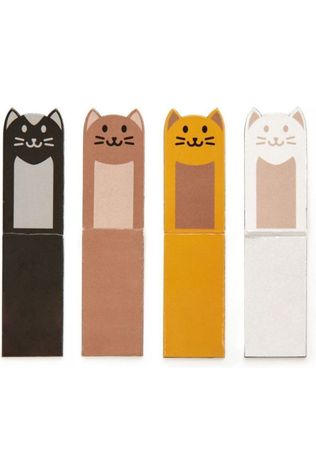 Kikkerland Magnetic Bookmark Cats Geen kleur