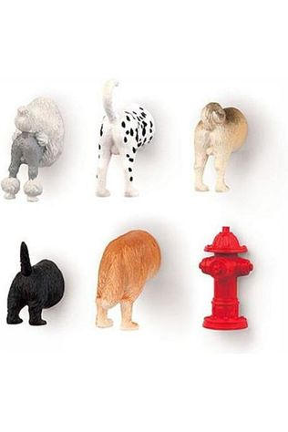 Kikkerland Gadget Dog Butt Magnets 6 Per Set JUTTU ONLY CONTINUOUS