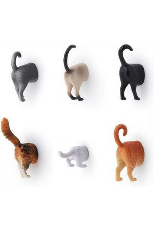 Kikkerland Gadget Cat Butt Magnets Set Of 6 JUTTU ONLY CONTINUOUS