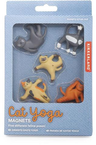 Kikkerland Gadget Cat Yoga Magnets Assorti / Gemengd