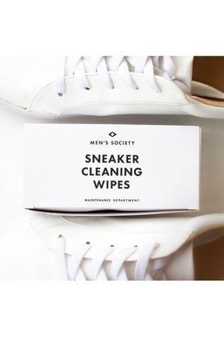 Men's Society Gadget Sneaker Wipes (Black And White Box) Wit