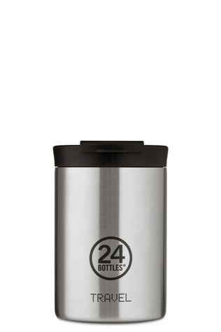 24Bottles Drinkfles Travel Tumbler 350ml Zilver/Assorti / Gemengd