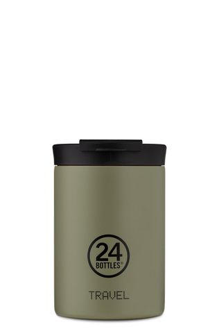 24Bottles Drinkfles Travel Tumbler 350ml Lichtkaki/Assorti / Gemengd