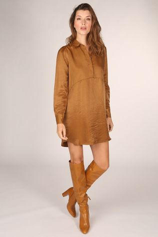 FRNCH Robe Acelya Marron Chameau